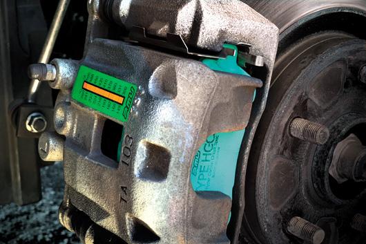 Projectμ ブレーキキャリパー温度ステッカー